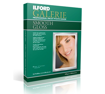 ILFORD GALERIE SMOOTH GLOSSY PAPER 290 GRAMS
